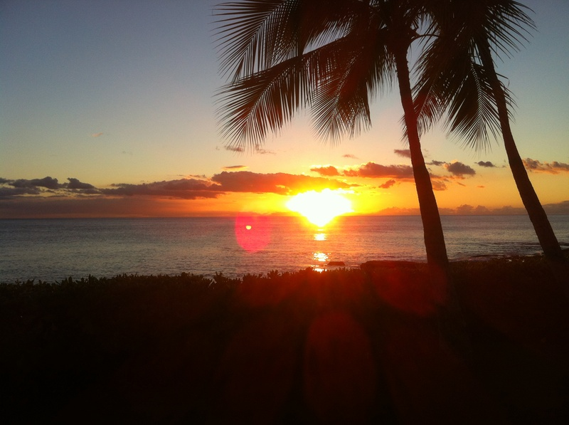 Hawaiian Sunset for Jason Mraz Concert with Opening Act